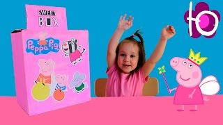 Julia open big Sweet box with toys