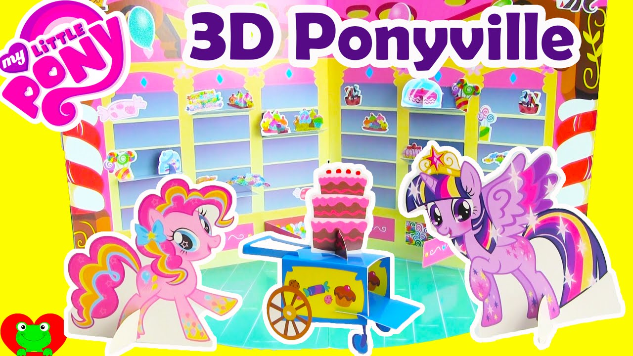My Little Pony 3d Ponyville With Twilight Sparkle Pinkie Pie And More