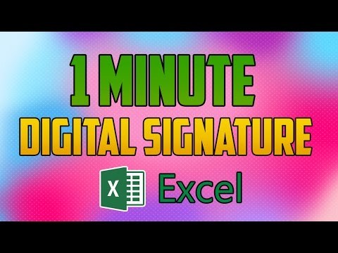 Excel 2016 : How To Add And Create A Digital Signature