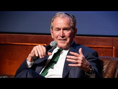 George W. Bush walks back 'nativist' comment, says he wrote in ...