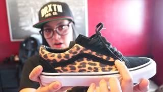 Vans Old Skool (Suede Leopard) Blk/TrWht + On Feet & Quick Haul!