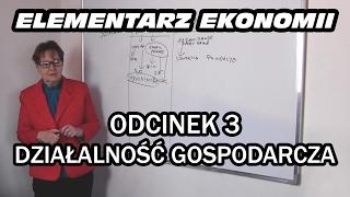 ELEMENTARZ EKONOMII - odc.3 Działalność gospodarcza