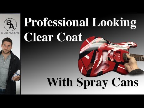 How to get a professional looking clear coat with spray cans