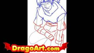How to draw Kabuto, step by step