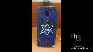 DIY Galaxy Mobile Cover Painting | Name Cover (Requested video)