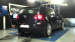 VW Golf 5 tsi 140cv @ 195cv reprogrammation moteur dyno digiservices