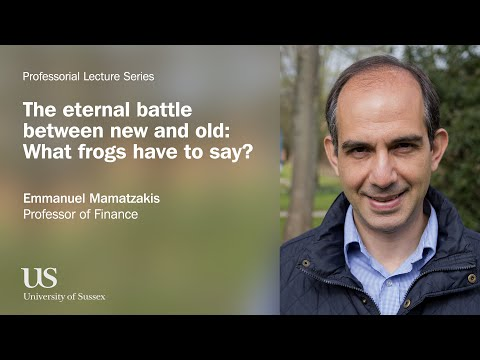 University of Sussex Professorial Lecture - Emmanuel Mamatzakis