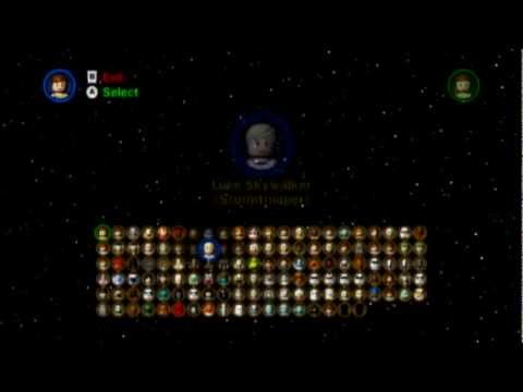 Lego Star Wars The Complete Saga All Playable Characters Youtube