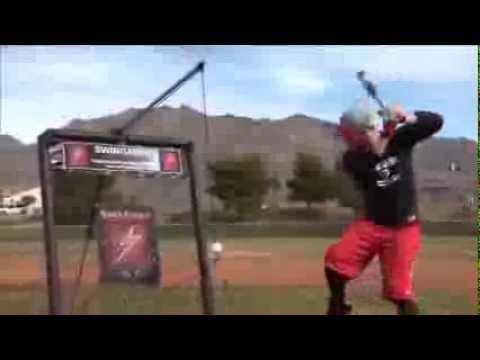 SwingAway SA100BBR Bryce Harper MVP Hitting Machine Red