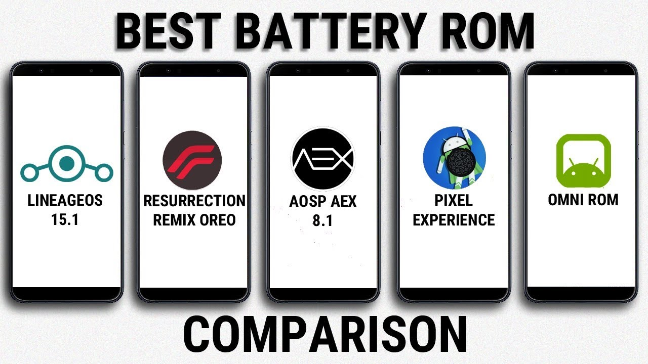 LineageOS 15 1 vs Resurrection Remix Oreo vs AOSP AEX vs PIxel Expirence |  Best Battery Rom Test