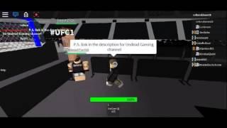 Roblox UFC1 Main Event Spiritwolf vs James Benoit (part 1)
