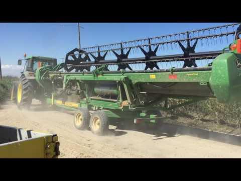Rice combine jd s690i transport Halastra Greece