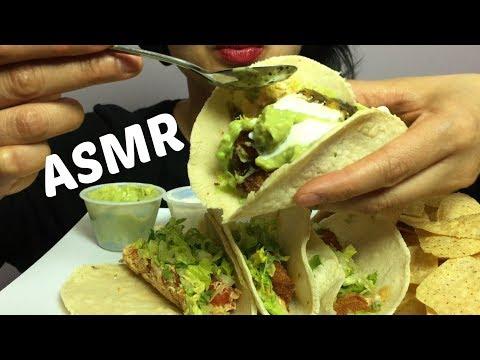 ASMR TACO (Chicken, Baja Shrimp and Fish) EATING SOUNDS | SAS-ASMR