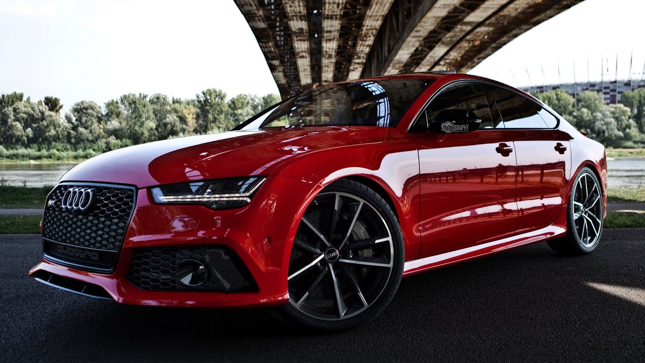 rs7 2017 sportback with a red colour