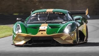 Brabham BT62 V8 Sound in Action! Accelerations, Revs & Fly Bys!