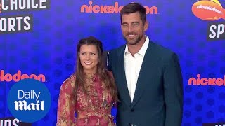 Danica Patrick & Aaron Rogers at Nickelodeon Kids' Choice Sports - Daily Mail