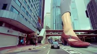Giantess In Clarks Commercial