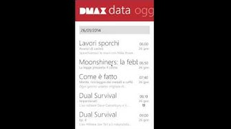 DMAX App on Windows Phone 8