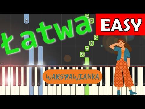 🎹 Warszawianka (pieśń patriotyczna) - Piano Tutorial (łatwa wersja) 🎹