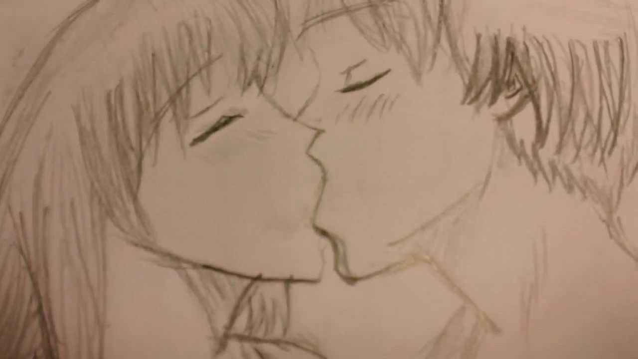 Drawing of people kissing coming alive youtube ccuart Choice Image