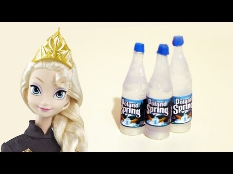 Make realistic DOLL WATER BOTTLES- Doll Crafts - simplekidscrafts - simplekidscrafts