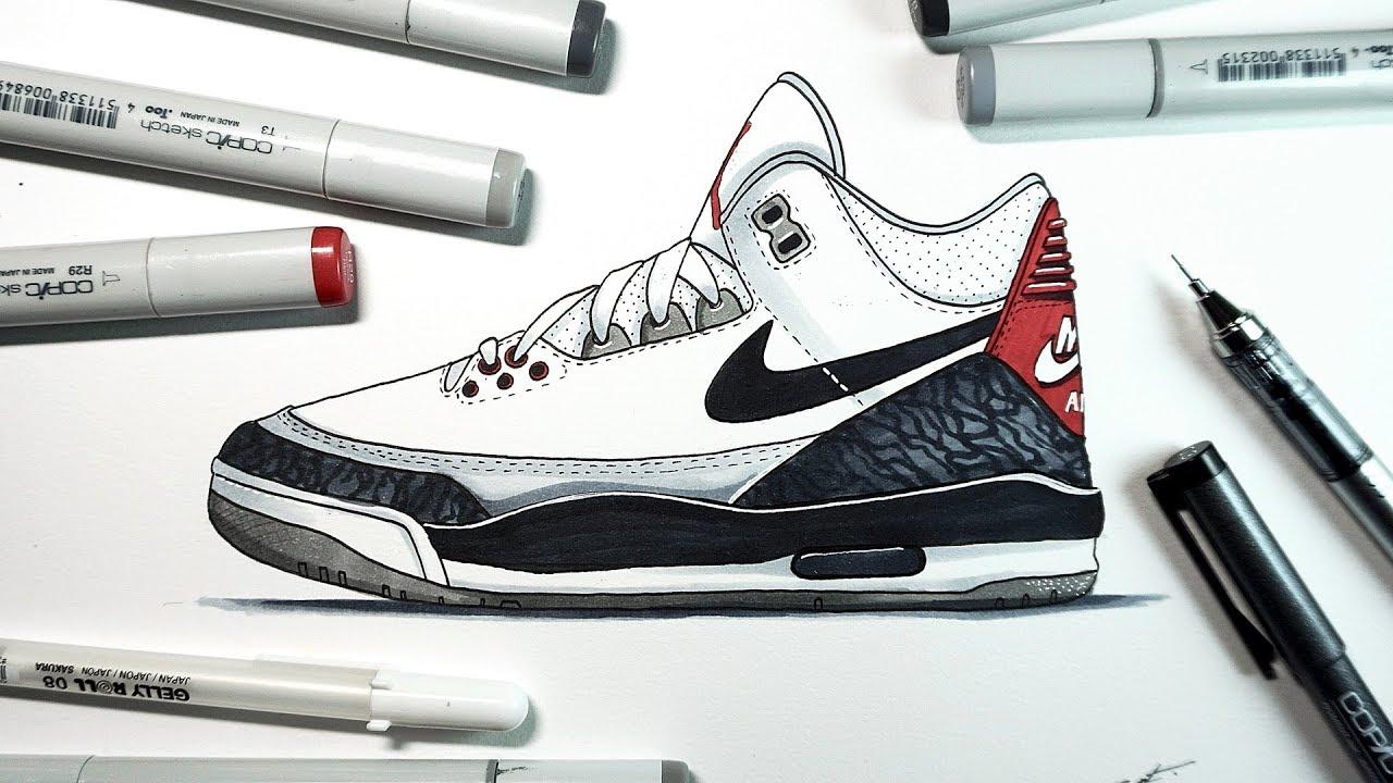 1fc702acce4 Drawing Nike Air Jordan 3