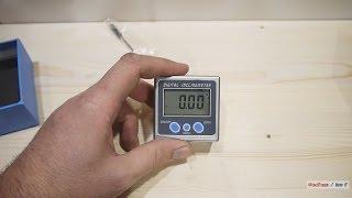 Нужные вещи: электронный угломер. Digital inclinometer.(Простая в использовании, полезная в работе вещь. Пример похожего на иБэй: http://www.ebay.com/itm/Digital-Bevel-Box-Inclinometer-Angle-Ga..., 2013-12-28T08:46:23.000Z)