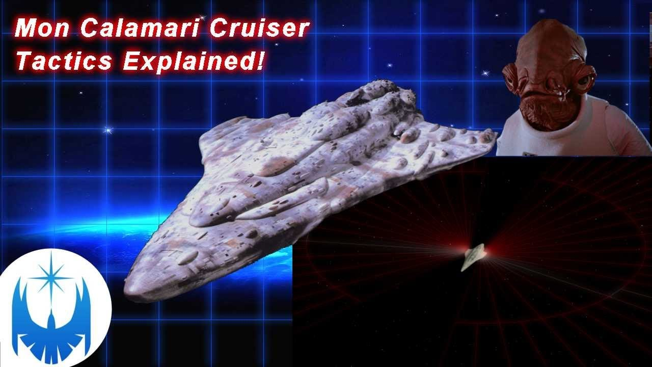 Mon Calamari Cruiser Battle Tactics!! Animated Explanation
