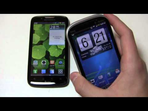 Motorola Atrix 2 vs. HTC Amaze 4G Dogfight Part 1
