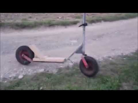Homemade XL Scooter Downhill Ride