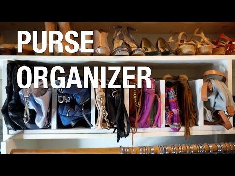 Store Your Handbags Diy Purse Rack Superholly Youtube