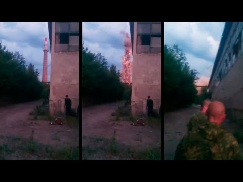 "Destroyed Pascale Martine Tayou ""Make Up!"" by DPR Militants in Donetsk"