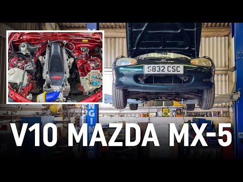Preparing our Mazda MX-5 for its V10 engine