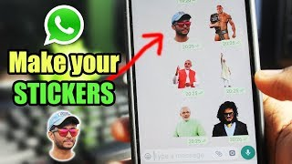 How to Make Your Stickers on WhatsApp in Hindi 2018