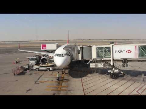 A320 docking at Sharjah International Airport