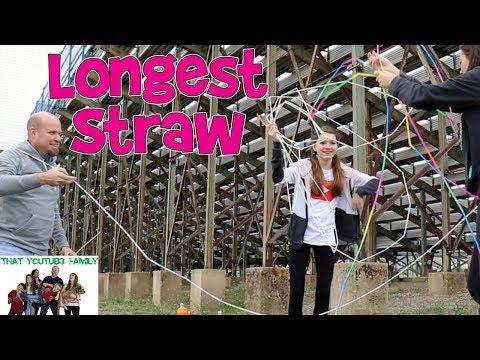 Longest Straw Challenge / That YouTub3 Family