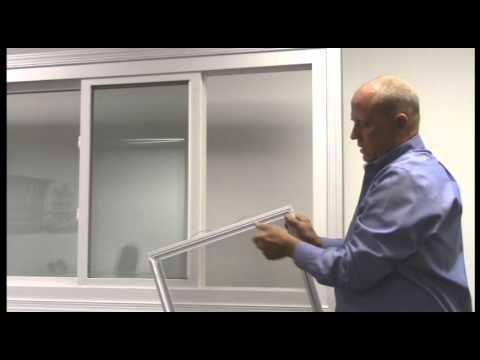 how to replace the screen in a sliding window
