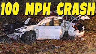Tesla 100mph crash | ttn clips