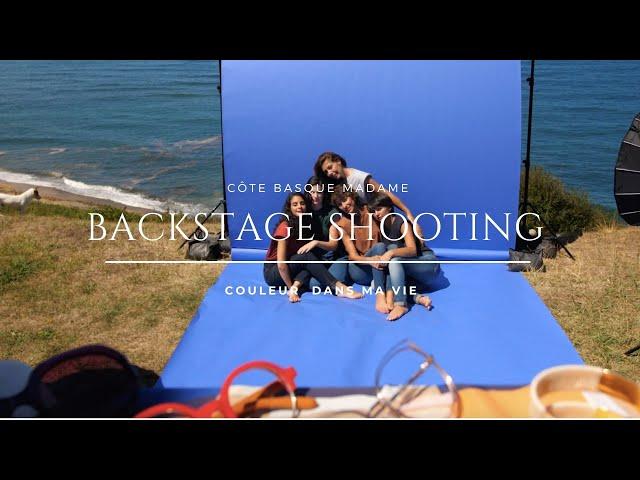 Backstage du shooting des couleurs dans ma vie .