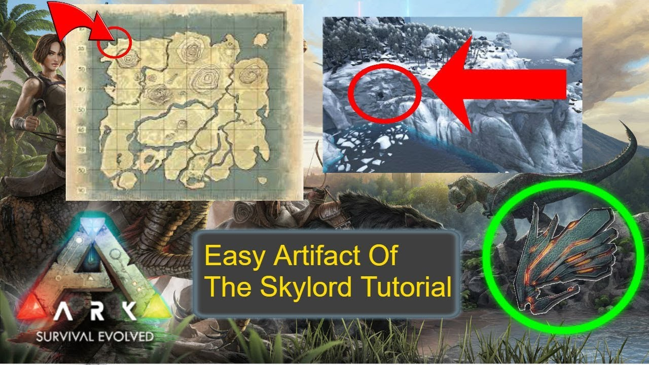 HOW TO GET Artifact of the Skylord EASY (Northwest Cave) - Ark Survival  Evolved