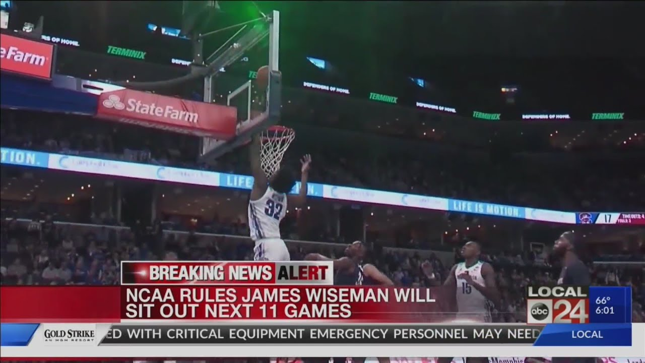 NCAA: James Wiseman must sit out next 11 games. Memphis says it ...