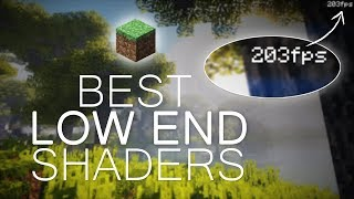 BEST High FPS / Low-End Shaders 2017 | Minecraft 1.12.2