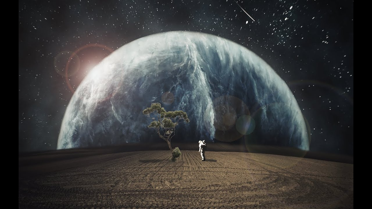 Grazy photoshop space fantasy speed art photoshop cc for Space art tutorial