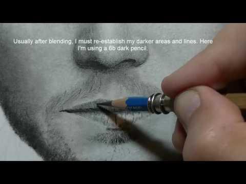 Realistic Pencil Drawing Part 9   Drawing Lips   Drawing Tutorial