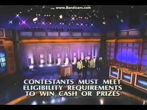 Jeopardy Credit Roll 7 9 2002 Youtube