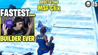 i spectated the FASTEST BUILDER i have ever seen on Fortnite...