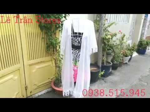 Kimono Tua Rua Dáng Dài áo Khoác đi Biển Chất Voan Cát đẹp Mà Giá Rẻ Lê Trân Stores