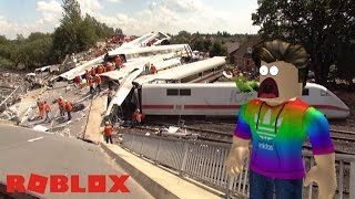 EPIC TRAIN CRASHES IN ROBLOX!!