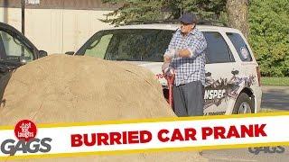 Car Buried In Sand Prank