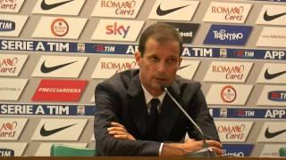"""Allegri: """"ci è Mancata Cattiveria"""" Roma - Juventus 2-1 - Serie A Tim 2015/16"""